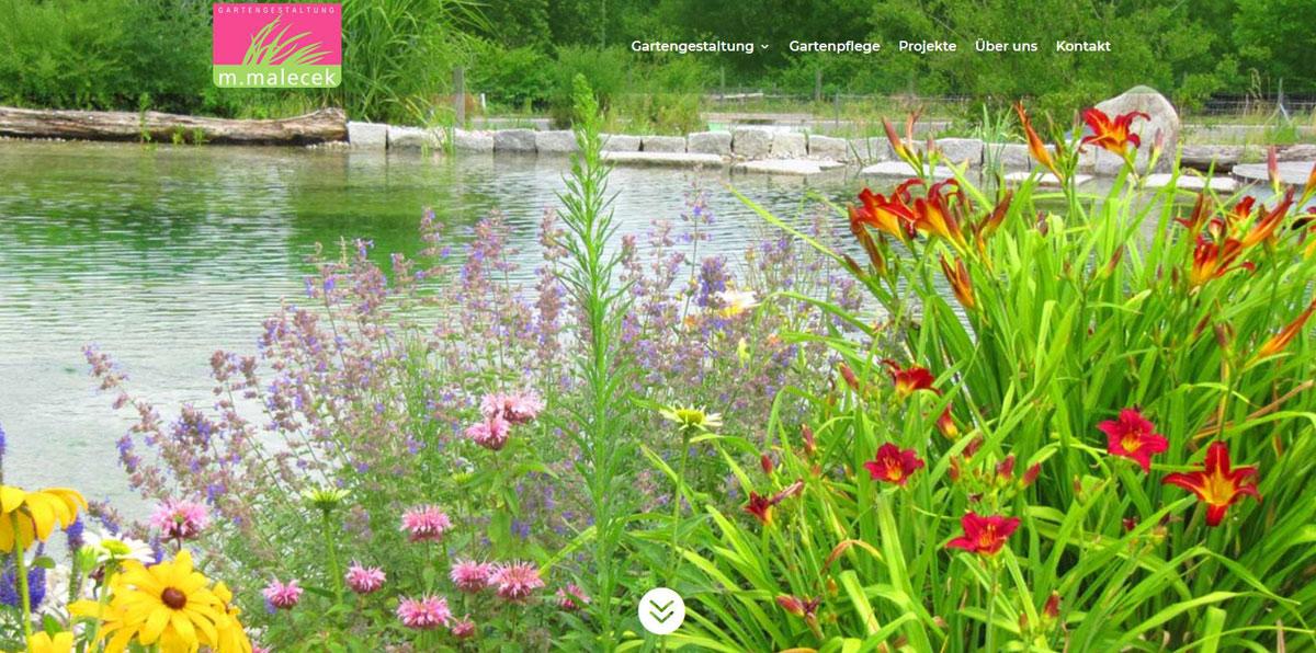 POPP-UP Webdesign | Malecek Gartengestaltung