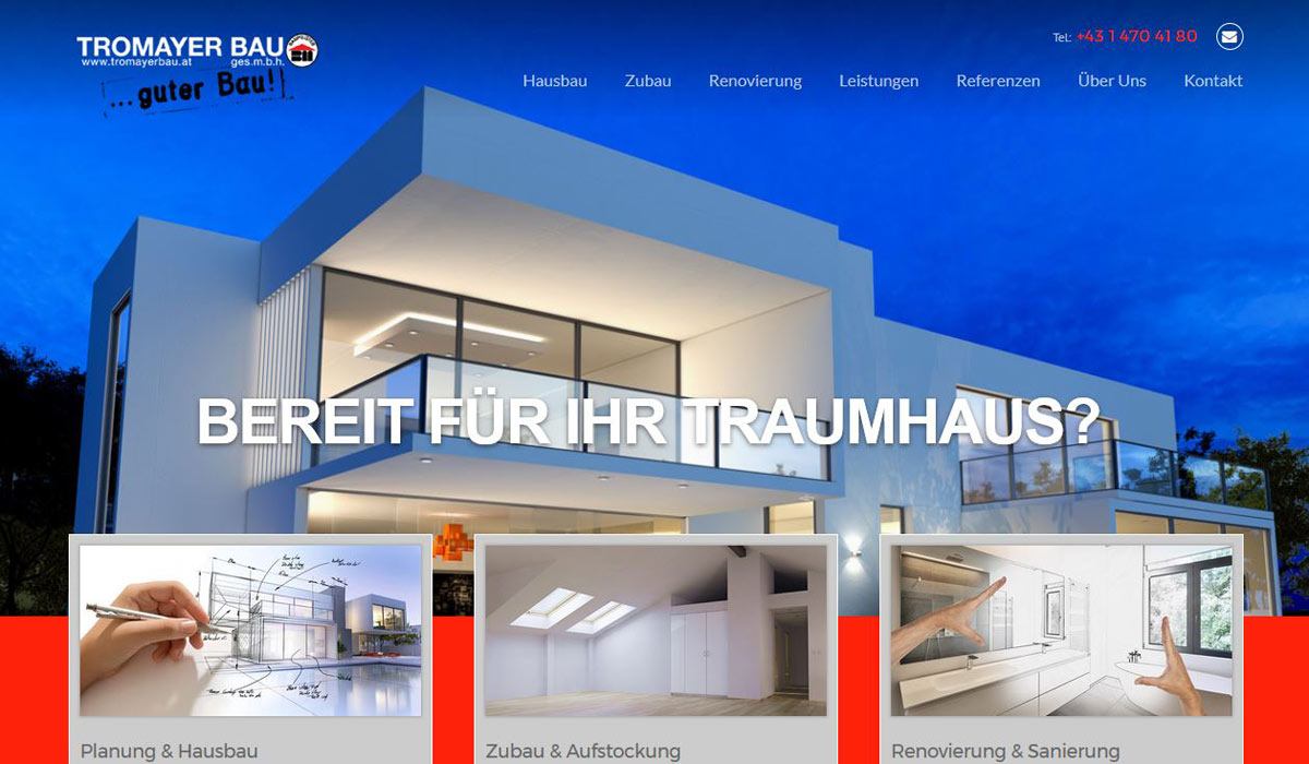 Tromayerbau | POPP-UP Webdesign