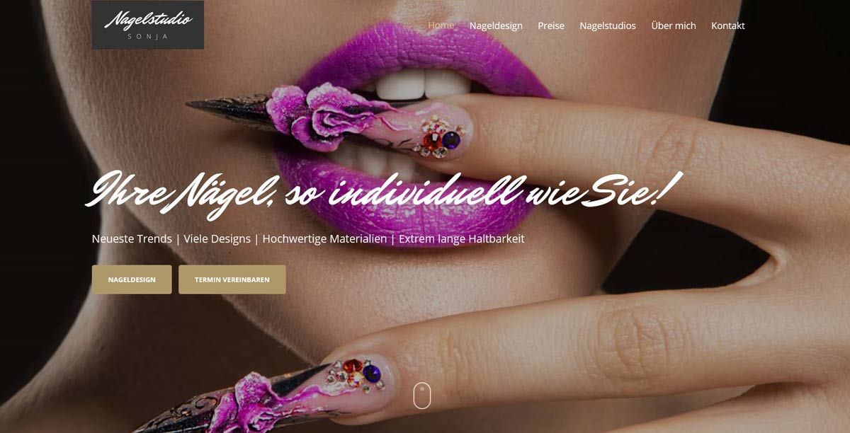 Nagelstudio Sonja | POPP-UP Webdesign