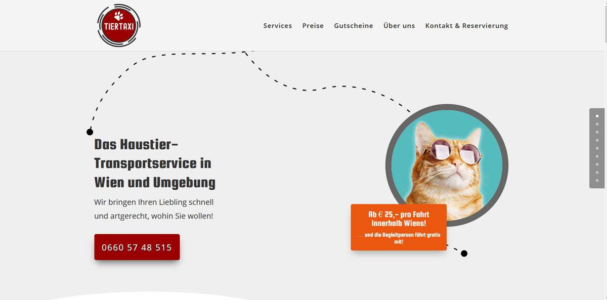 POPP-UP Webdesign | Tiertaxi