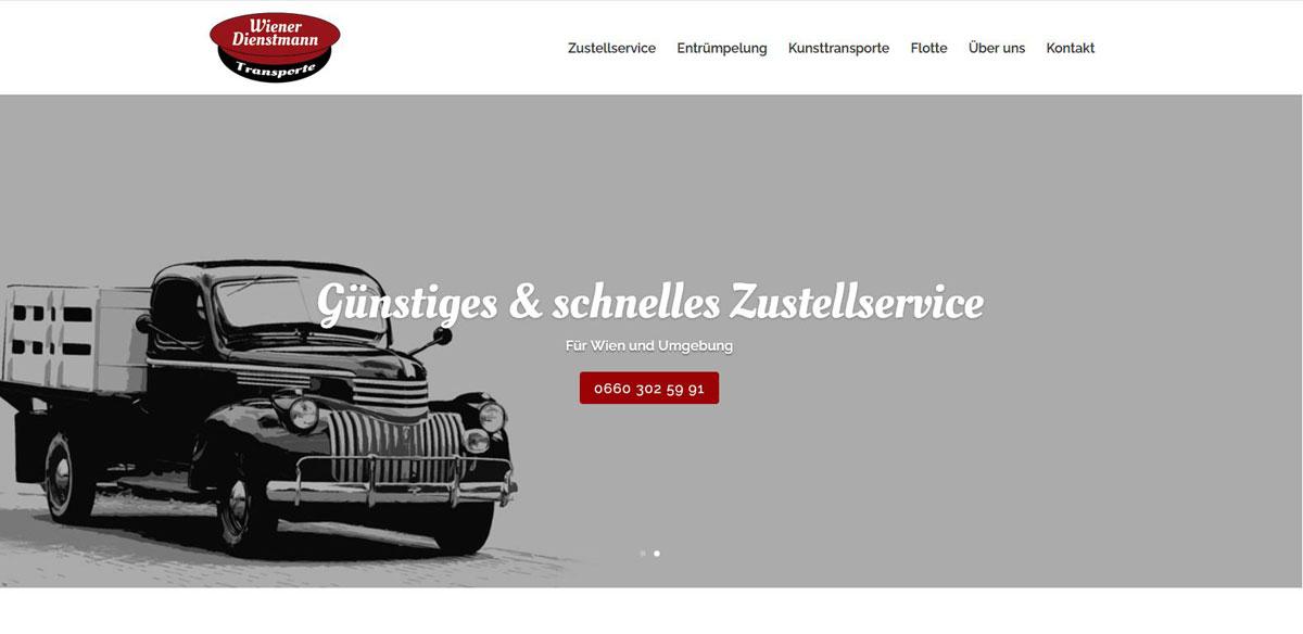 Wiener Dienstmann | POPP-UP Webdesign